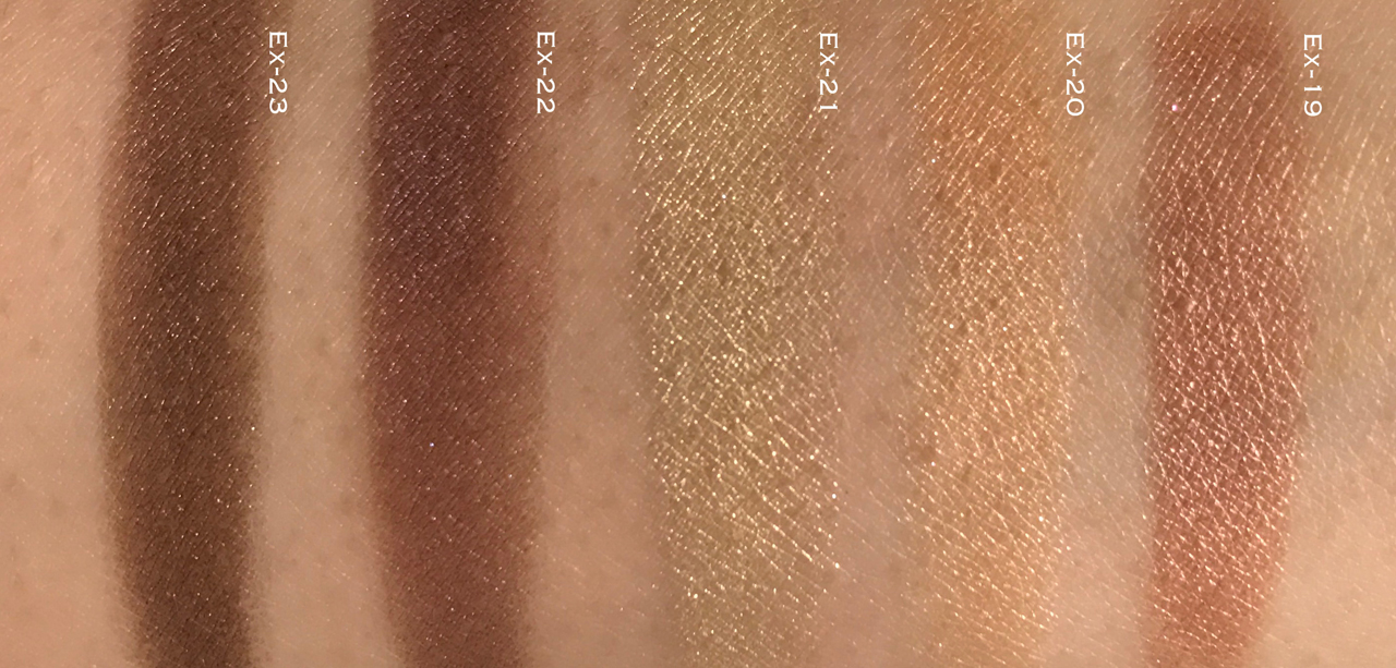 RMK Ingenious Powder Eyes EX19-23 swatches