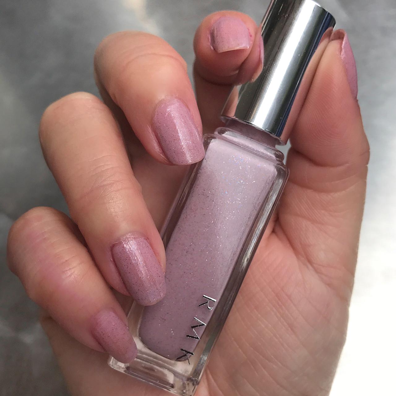 RMK Nail Polish 05(SH) Sparkle Rose nail swatch