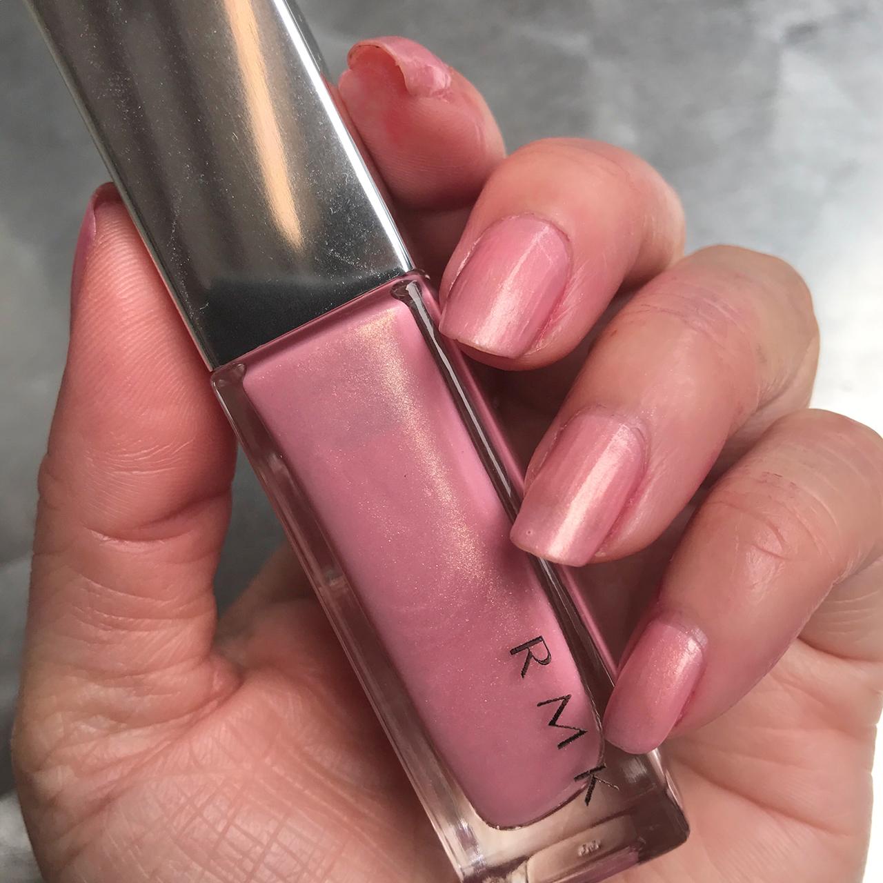 RMK Nail Polish 17(P) Sheer Pink nail swatch