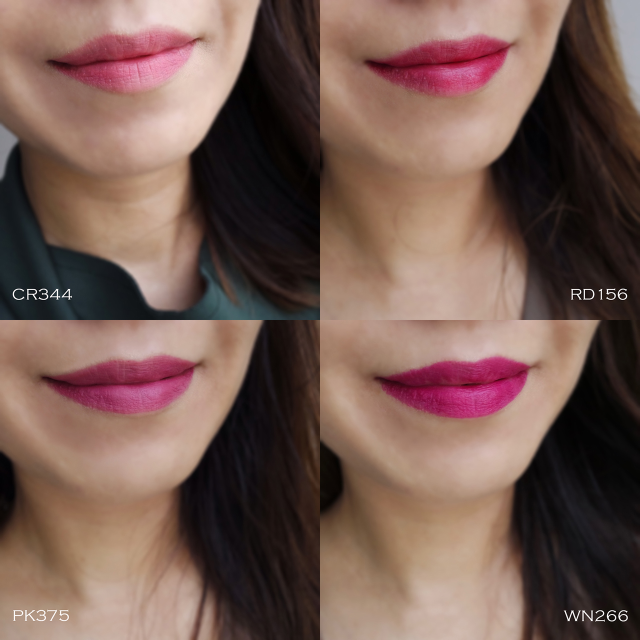Shu Uemura Rouge Unlimited Supreme Matte lip swatches