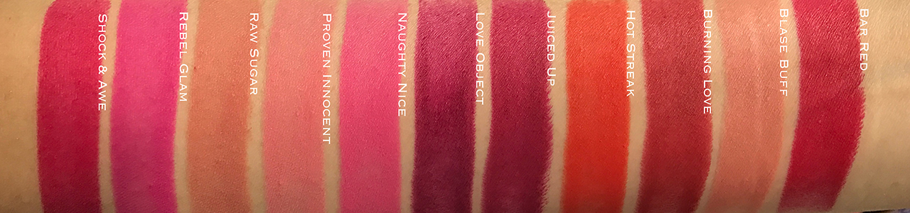 Estée Lauder Pure Color Love Lipsticks - Ultra Matte swatches