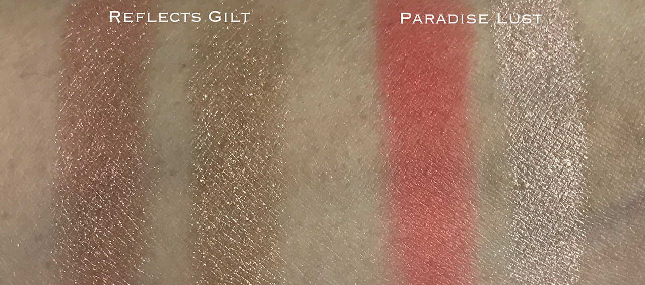 Tom Ford Paradise Lust & Reflects Gilt swatches