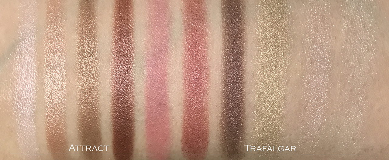 Attract vs Trafalgar swatch comparison