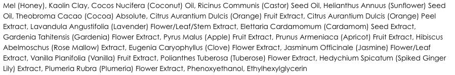 Aveseena Honeyactive Beauty Mask ingredients