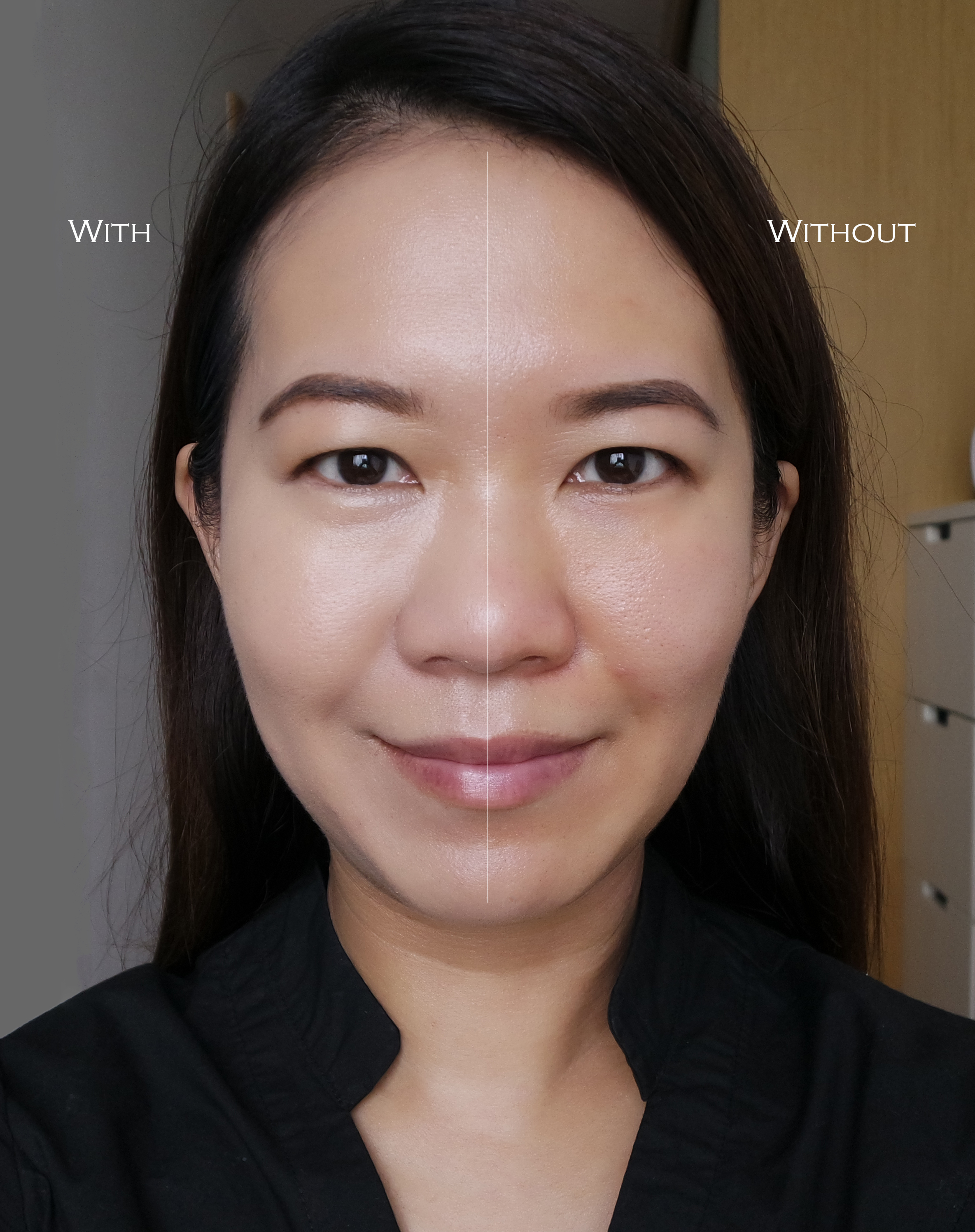 Shiseido Synchro Skin White Cushion before after comparison