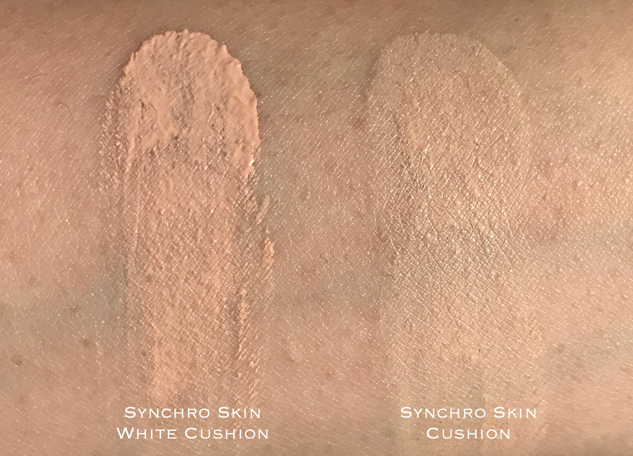 Shiseido Synchro Skin White Cushion swatch comparison
