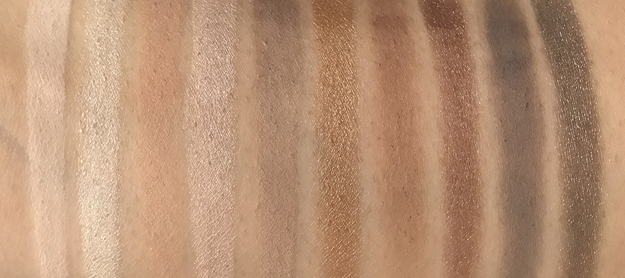 Zoeva The Basic Moment Eyeshadow Palette swatches