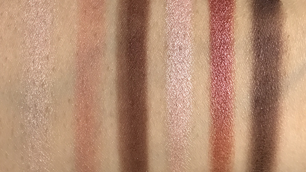 Make Up Store 12 Shades of Pink Palette - bottom row swatches