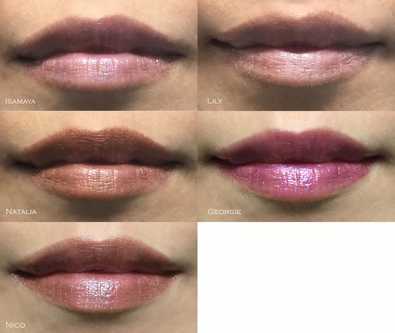 Tom Ford Boys and Girls lip swatches