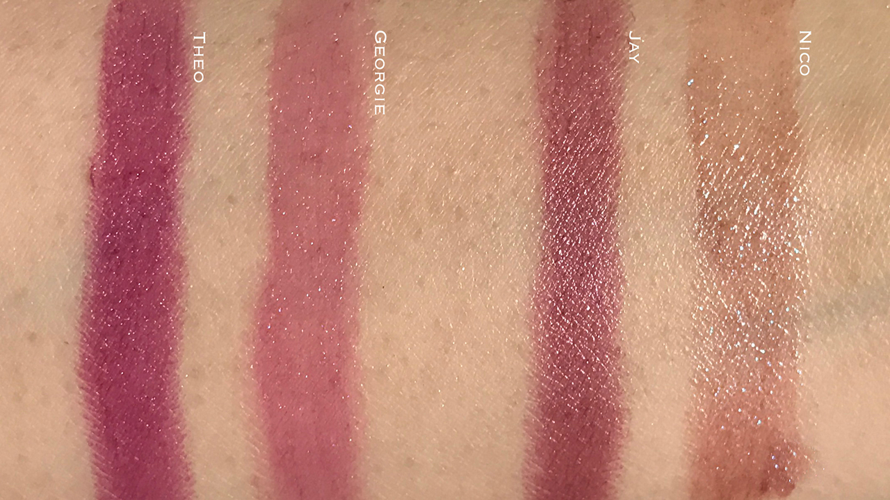 Tom Ford Girl Lip Colors Nico & Georgie swatch comparisons
