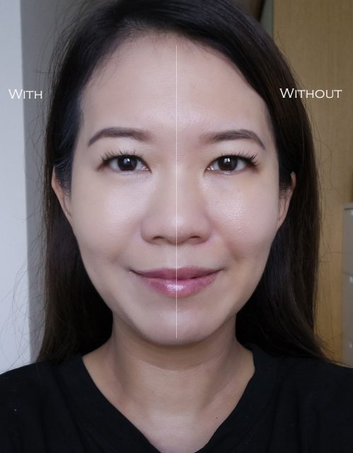 YSL All Hours Foundation before after comparison