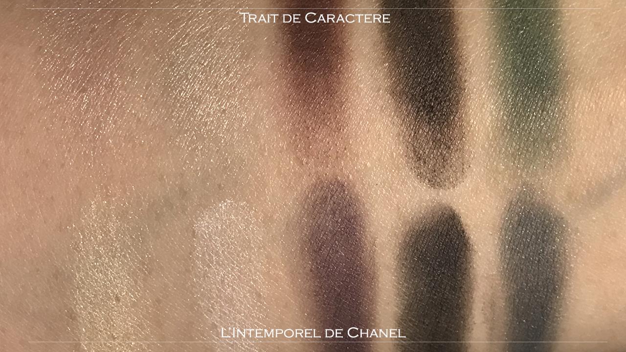 Chanel Creation Exclusive Trait de Caractere comparison swatches