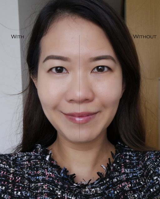 Kanebo Luster Cream Foundation before after comparison