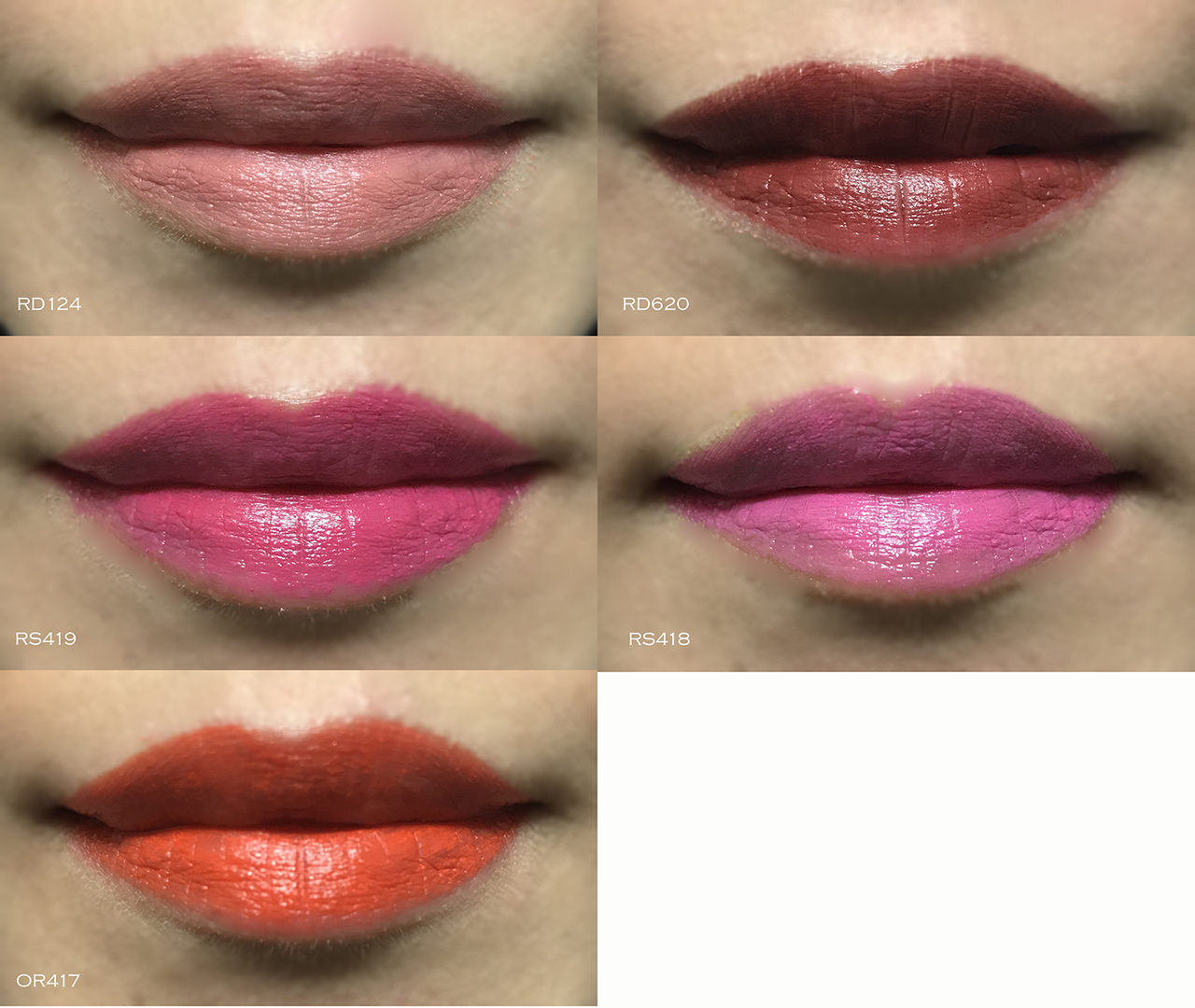 Shiseido Makeup Rouge Rouge lip swatches