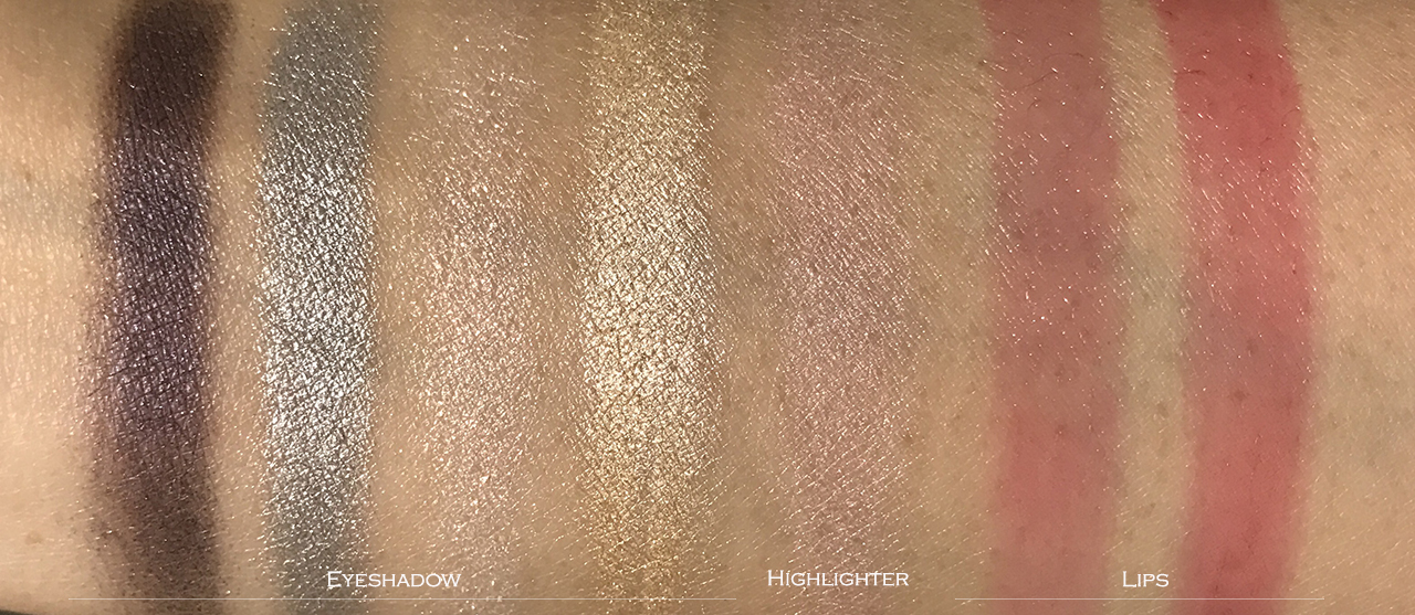 YSL Dazzling Lights Multi-use Makeup Palette swatches