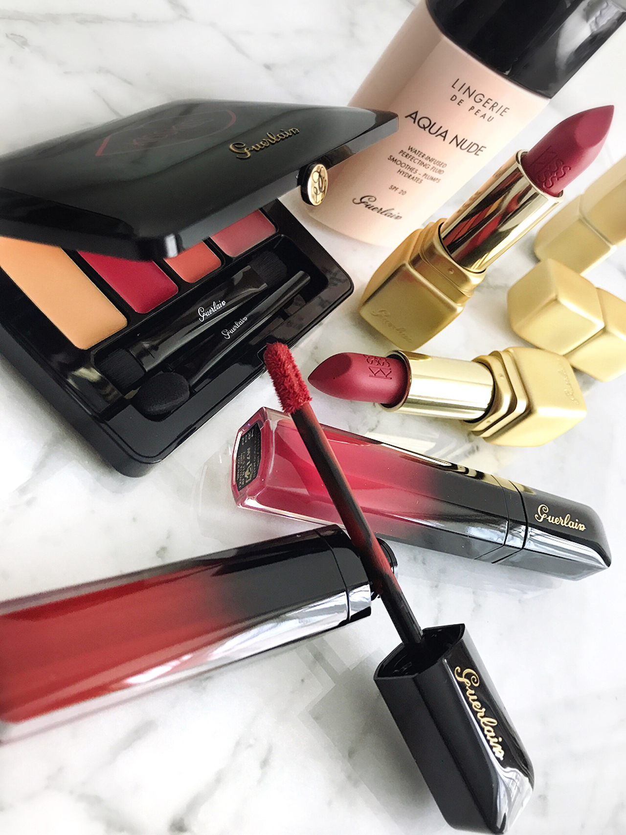 Guerlain Kiss Kiss Matte Lipstick and Intense Liquid Matte Lipstick
