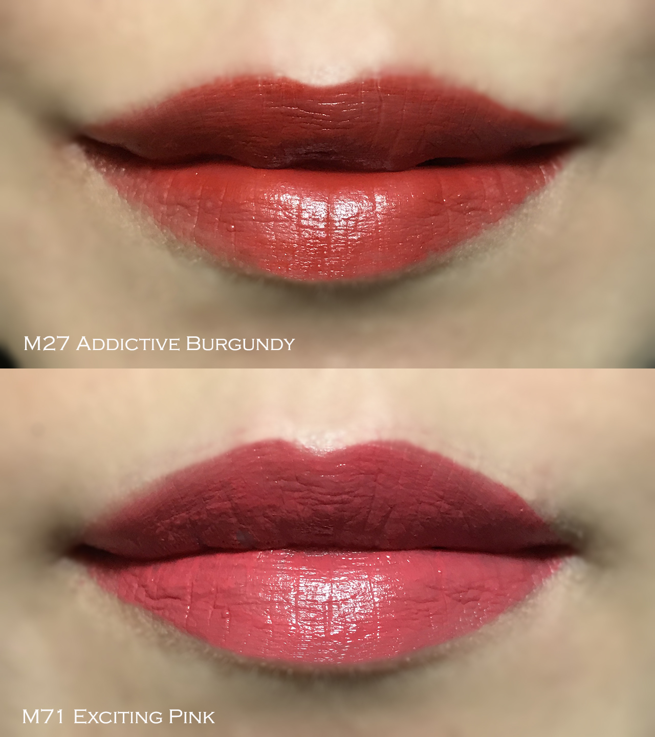 Guerlain Kiss Kiss Intense Liquid Matte Lipstick lip swatches
