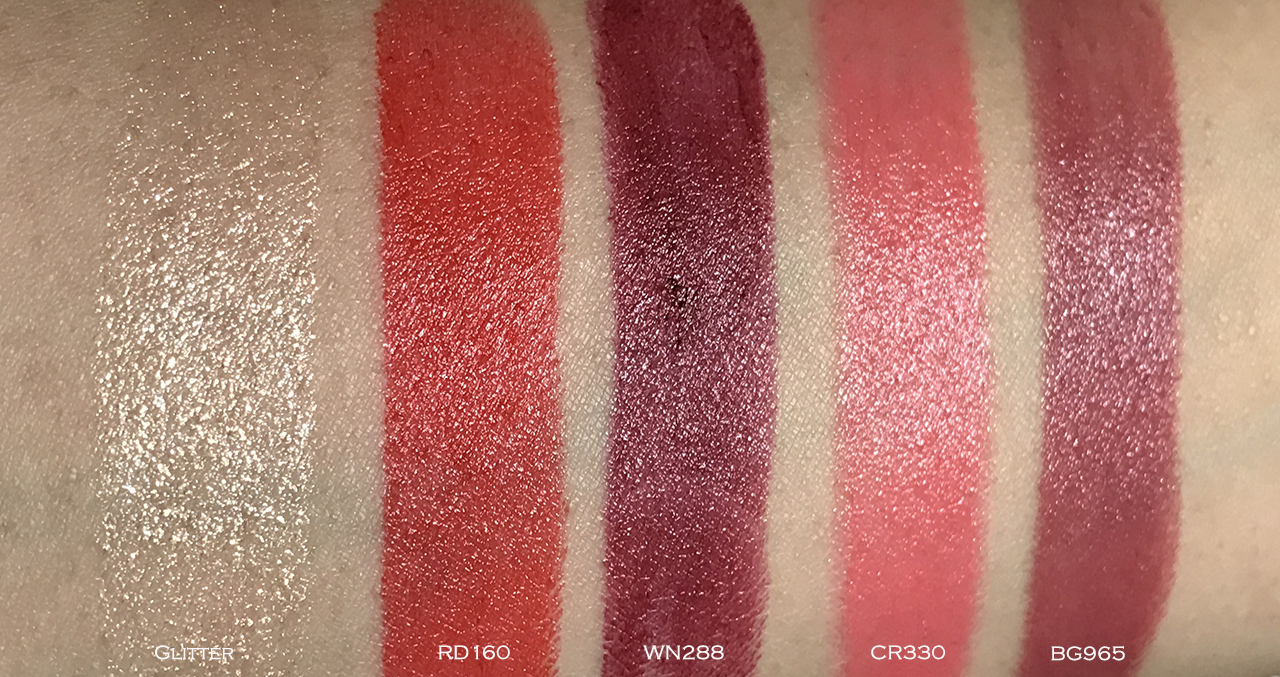 Shu Uemura Rouge Unlimited Central swatches