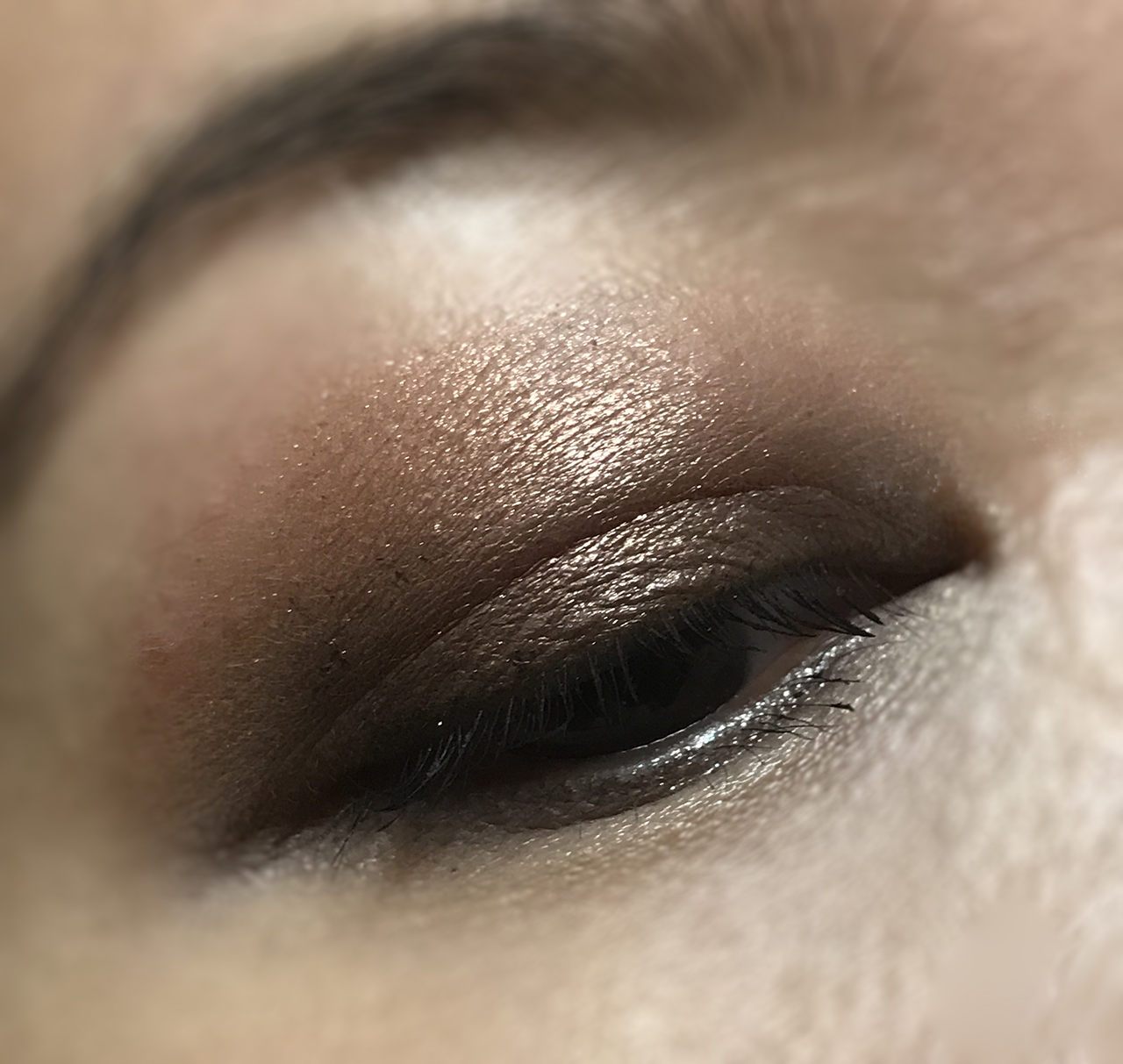 Guerlain Gold Palette eye makeup look