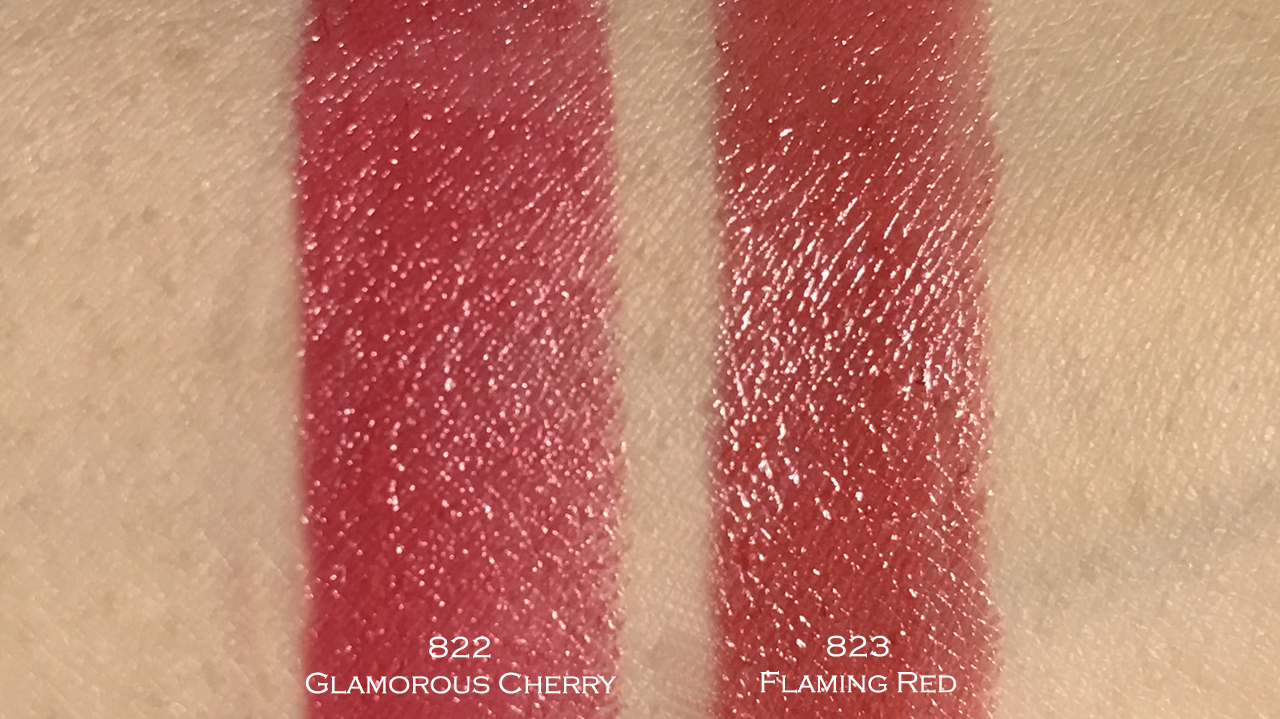 Guerlain Rouge G swatches