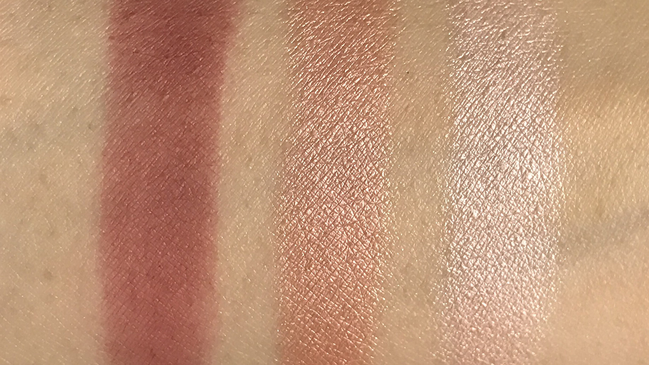 Make Up Store Shade Collection Red Velvet Trio swatches