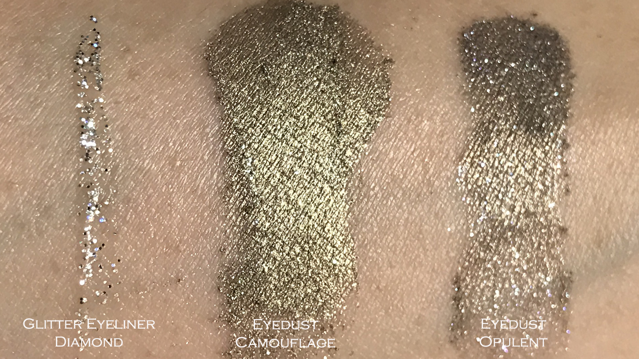 Make Up Store Winter 2017 Eyedust & Glitter Eyeliner swatches