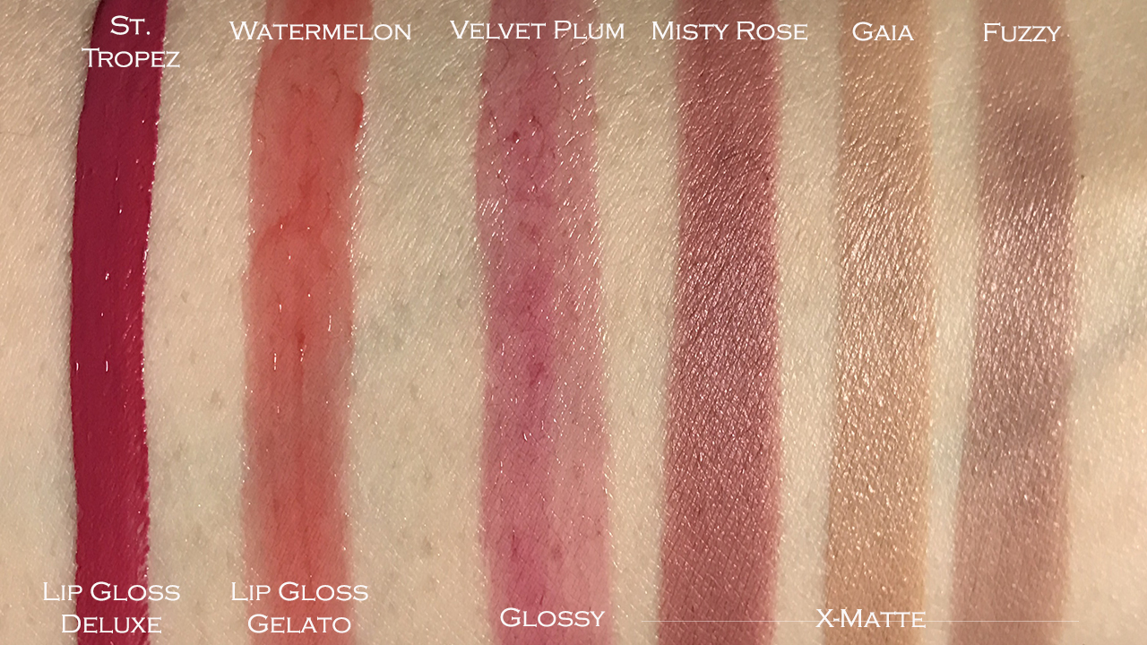Make Up Store Winter 2017 lip color swatches