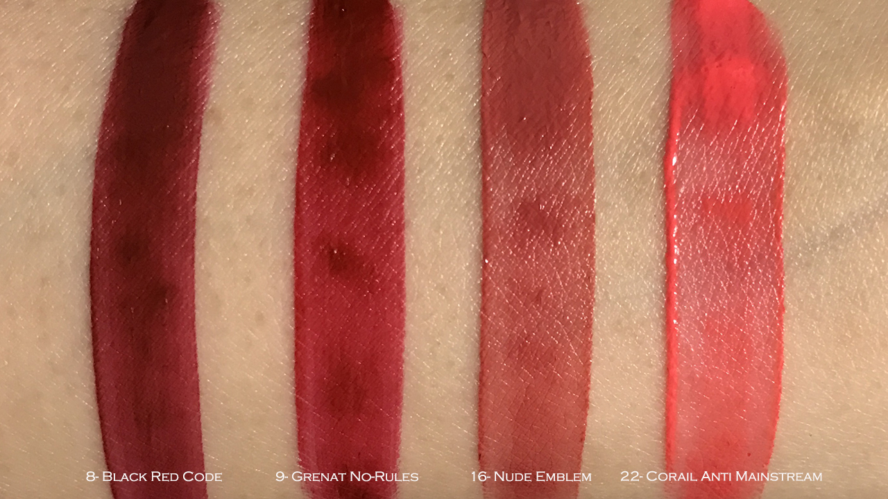 YSL Tatouage Couture swatches