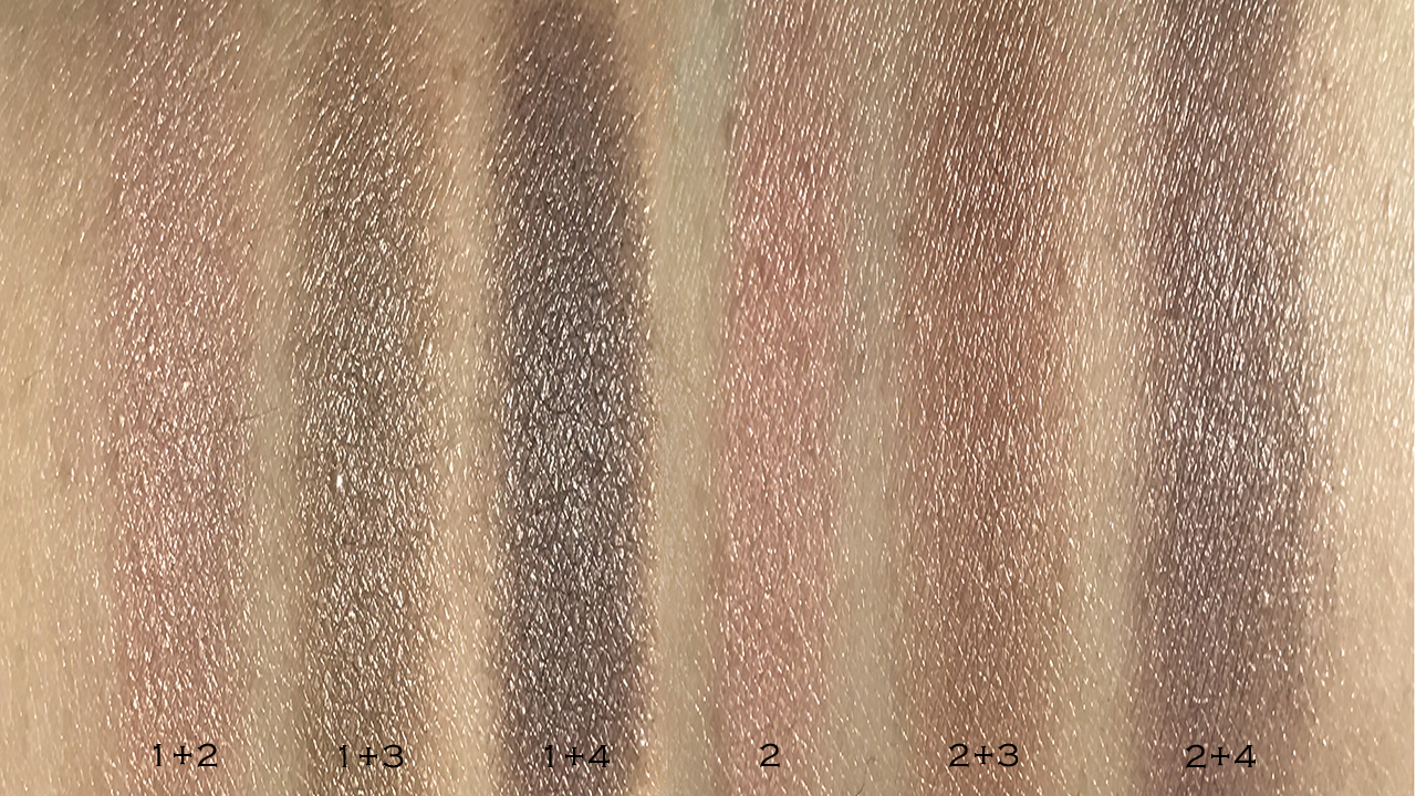 Chanel Les 4 Ombres Premiere Eclosion blended swatches