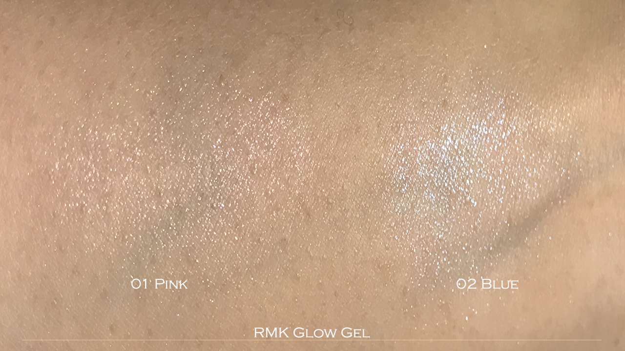 RMK Glow Gel swatches