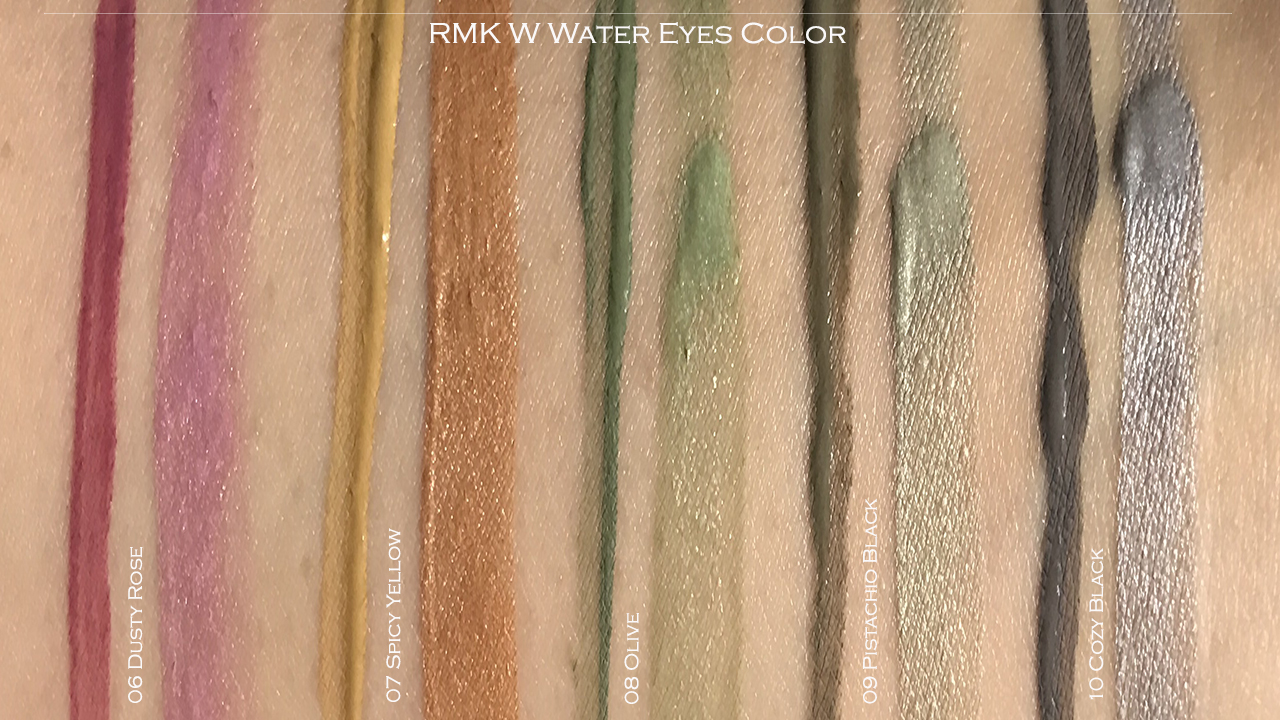 RMK W Water Eyes Color swatches 06-10