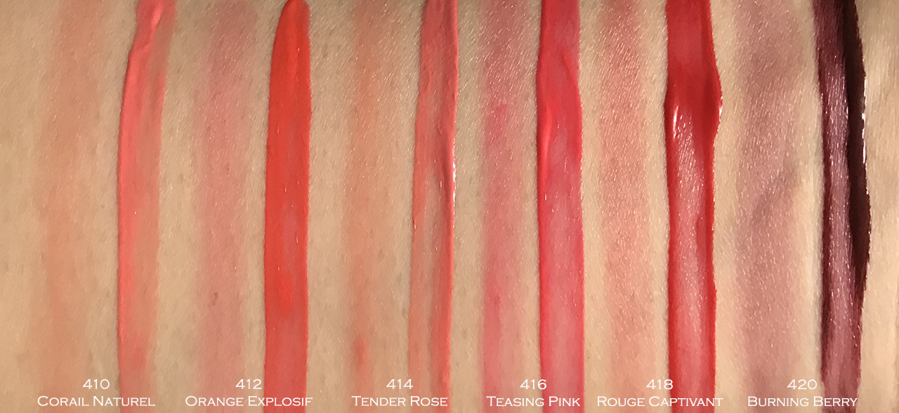 Chanel Rouge Coco Lip Blush swatches