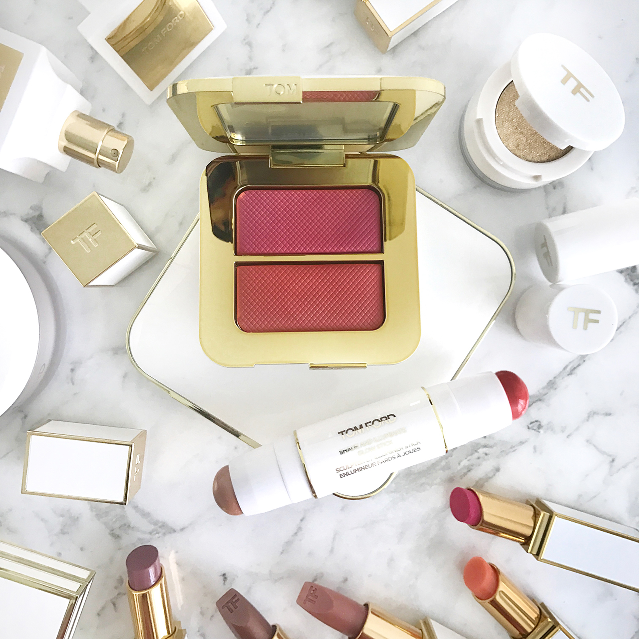 Tom Ford Exotica Flora Sheer Cheek Color Duo & Sunstruck Shade and Illuminate Glow Stick