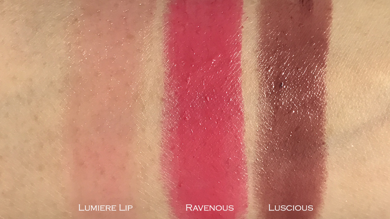 Tom Ford Lumiere Lip & Ultra Shine Lip Color Ravenous & Luscious swatches