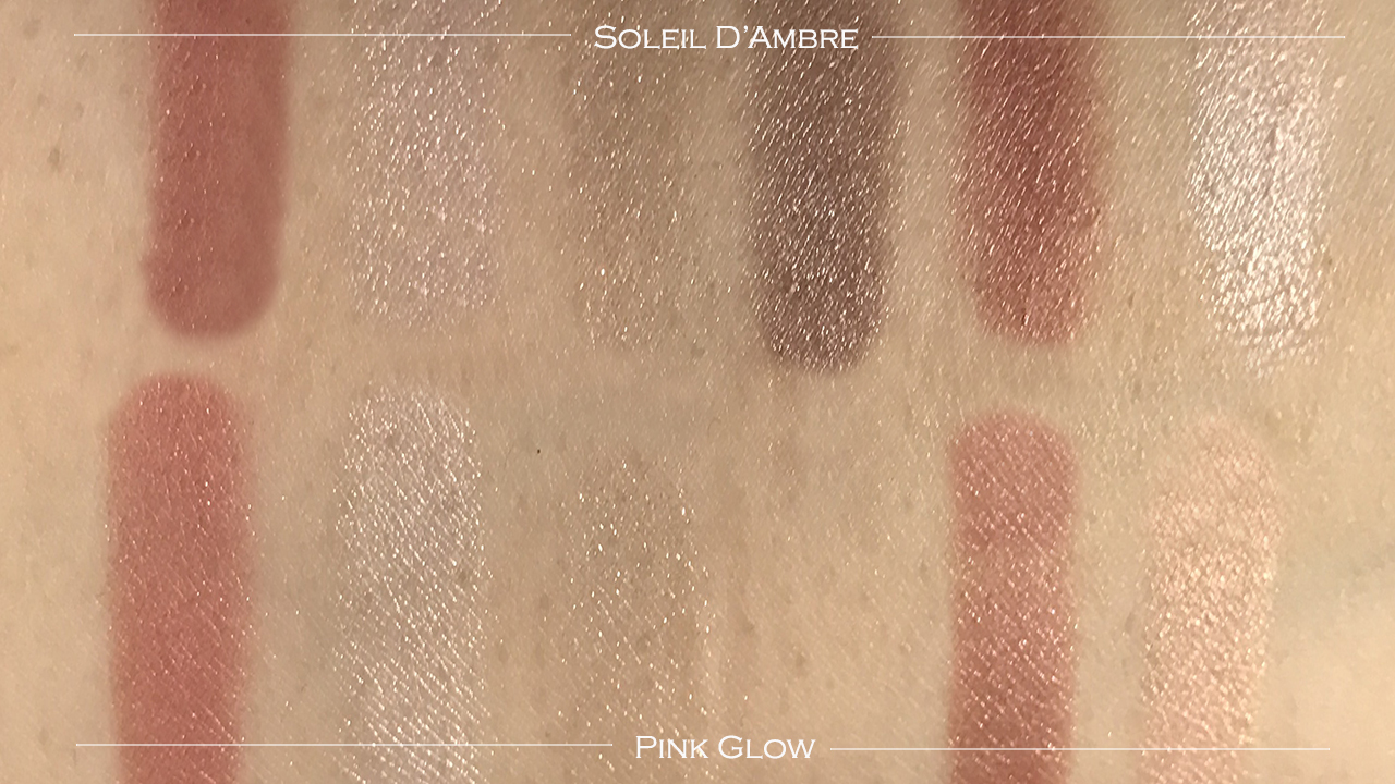 Tom Ford Soleil d'Ambre vs Pink Glow swatches