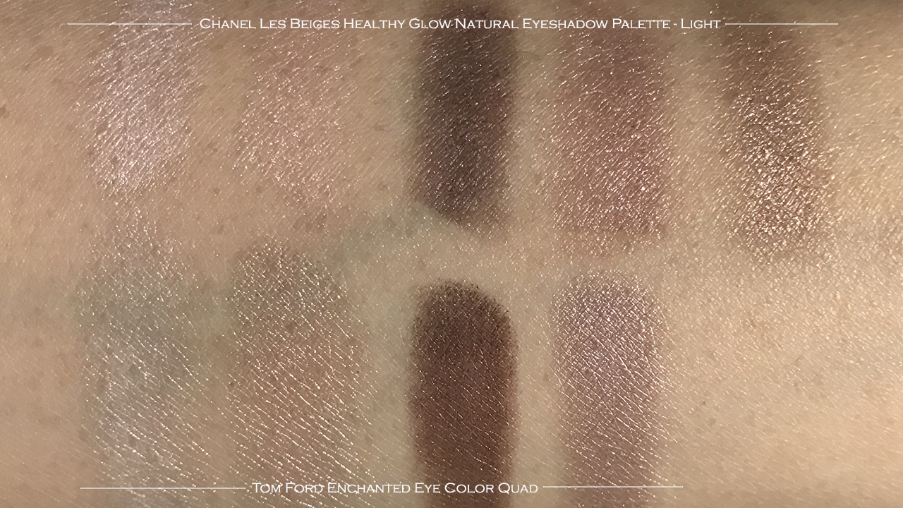 Chanel Les Beiges Healthy Glow Natural Eyeshadow Palette compare TF Enchanted