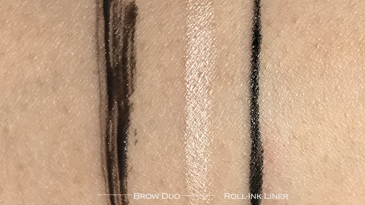 Guerlain La Petite Robe Noir Roll'Ink Liner & Brow Duo swatches