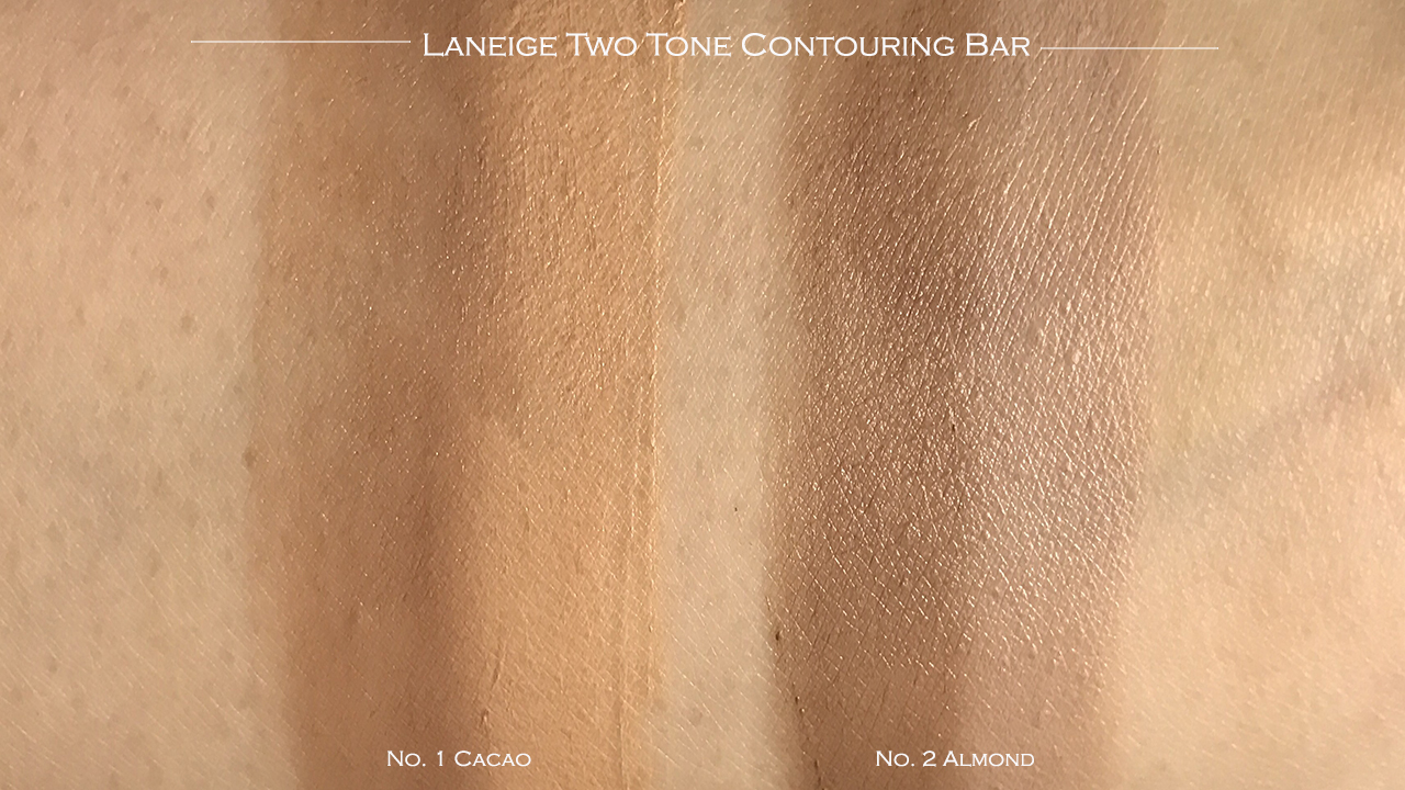Laneige Two Tone Contouring Bar swatches