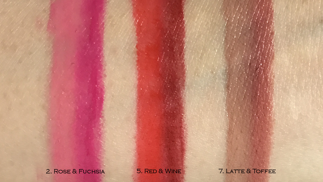 By Terry Twist-on-Lip arm swatches