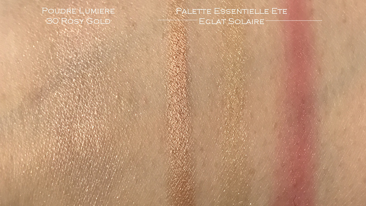 Chanel Palette Essentielle Eclat Solaire & Poudre Lumiere Rosy Gold swatches