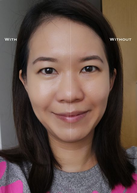 Clarins Everlasting Cushion Foundation before after comparison