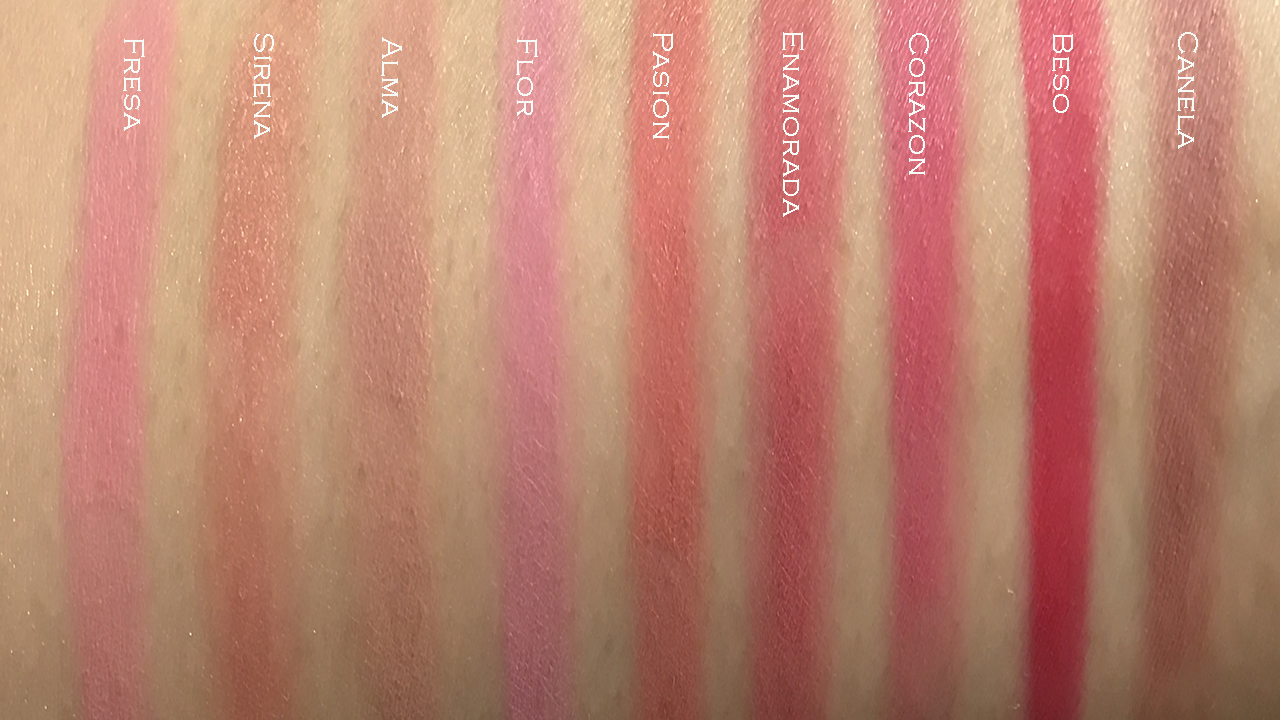 Pixi Dulce's Lip Candy Sugar & Spice palette swatches