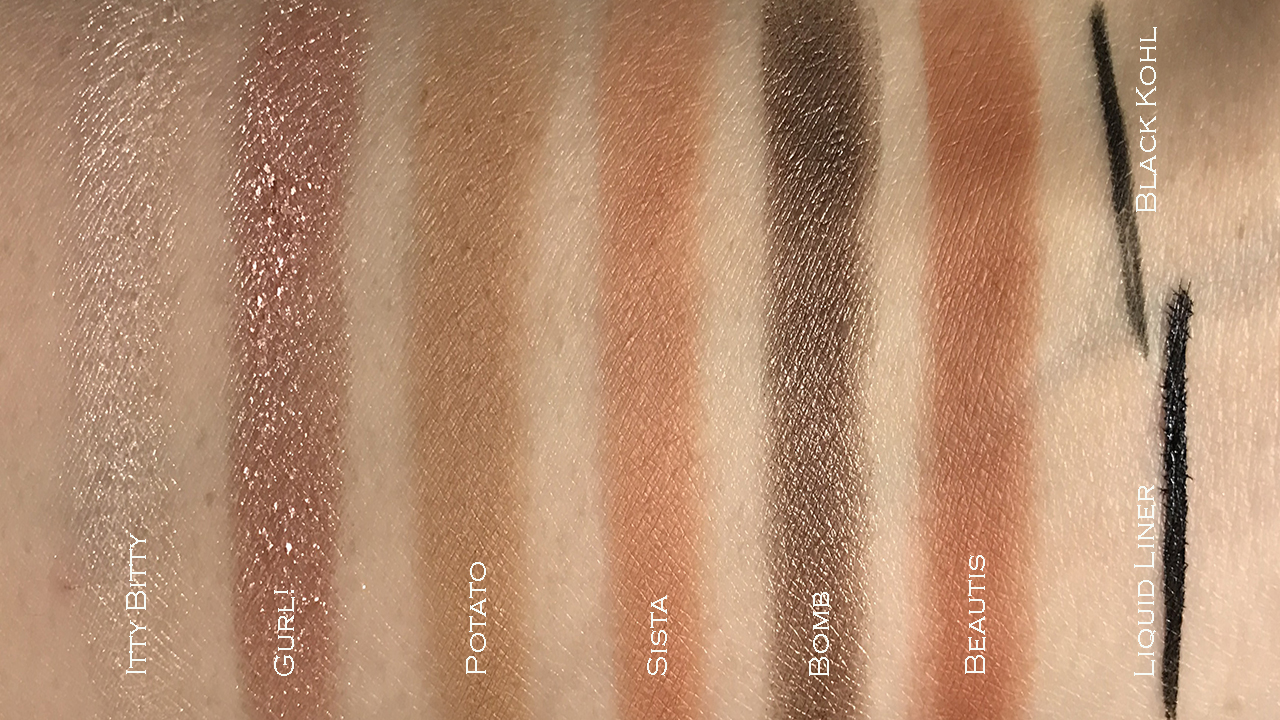 Pixi Let's Talk Eyes swatches