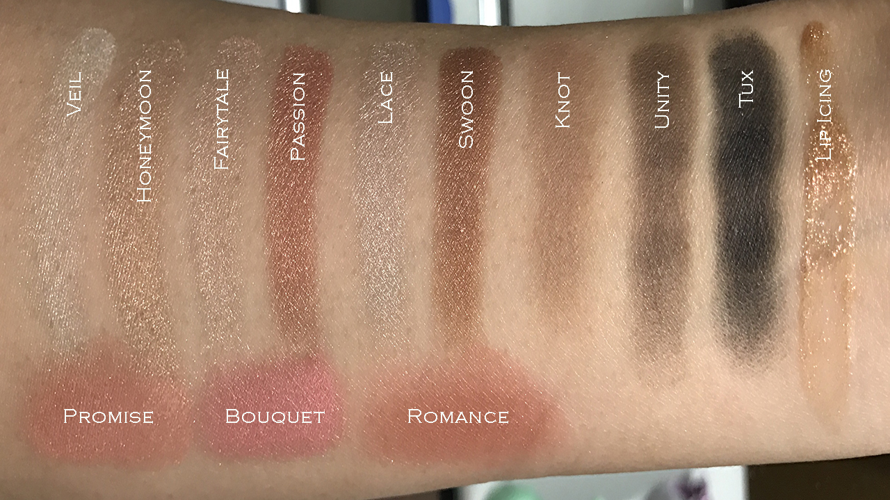 Pixi Palette Chloette Romantic Radiance swatches