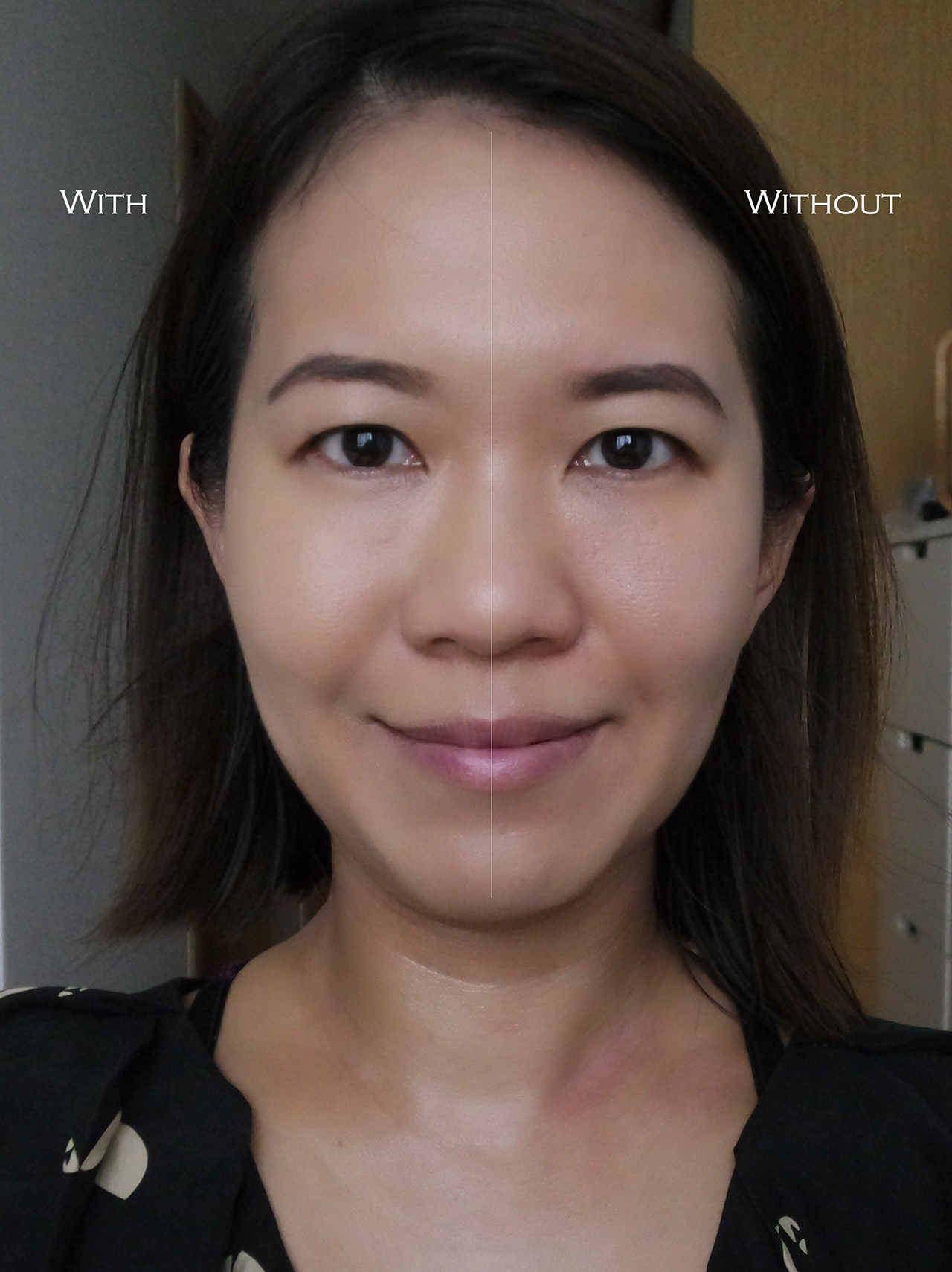 Shu Uemura Petal Skin Cushion Foundation before after comparison