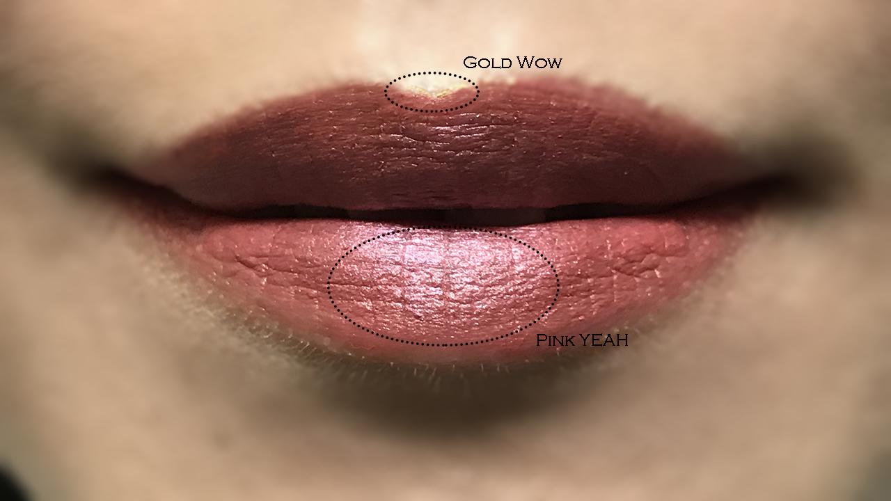 Yazbukey x Shu Uemura Magic Metallic Lip Liner lip swatch