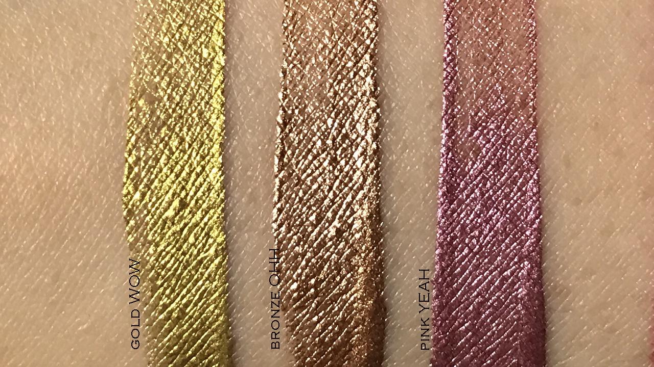Yazbukey x Shu Uemura Magic Metallic Lip Liner swatches