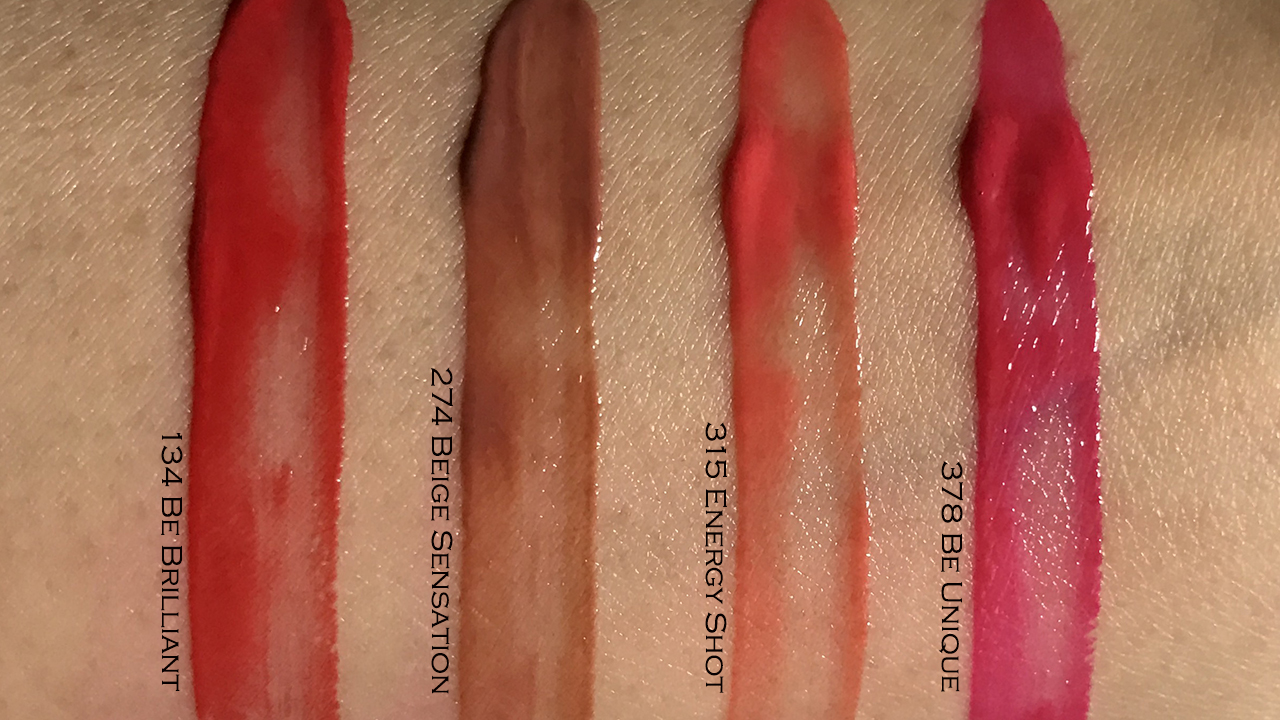 Lancome L'absolu Lacquer swatches