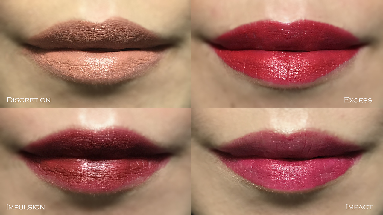 Chanel Le Rouge Crayon de Couleur Mat swatches