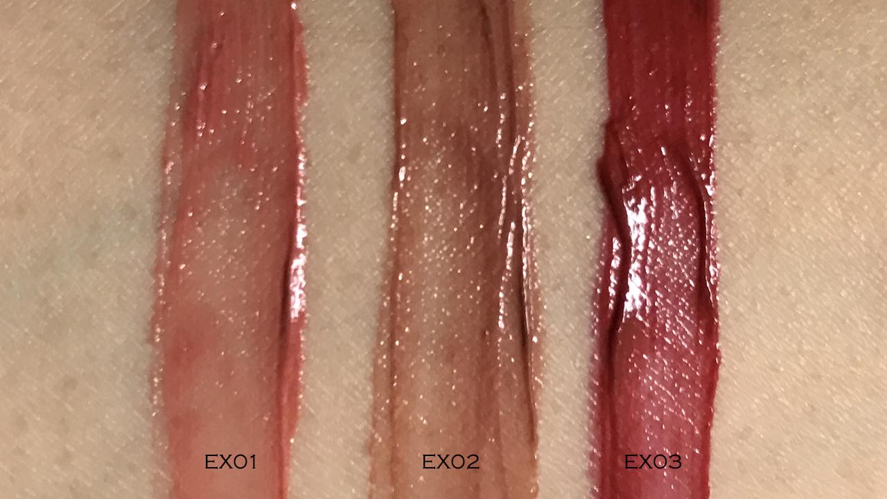 Lunasol Creamy Matte Liquid Lips swatches